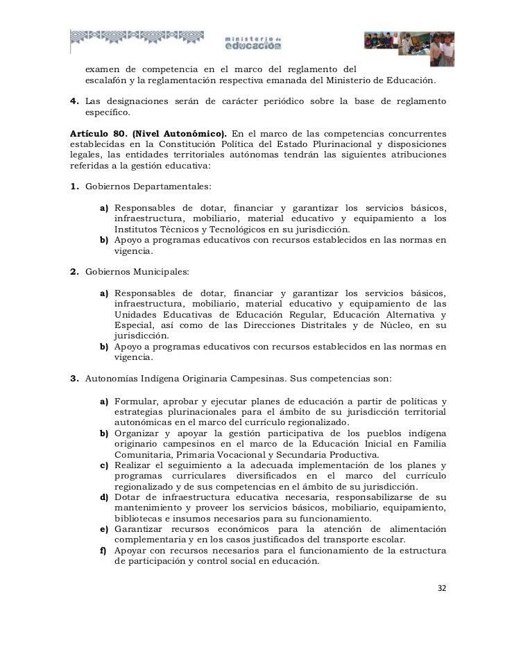 examen de competencia en el marco del reglamento del   escalafón y la reglamentación respectiva emanada del Ministerio de ...