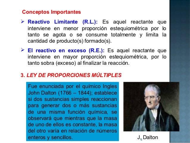 Conceptos Importantes Reactivo Limitante (R.L.): Es aquel reactante que  interviene en menor proporción estequiométrica p...