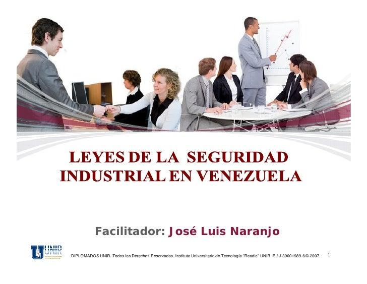 """Facilitador: José Luis NaranjoDIPLOMADOS UNIR. Todos los Derechos Reservados. Instituto Universitario de Tecnología """"Readi..."""