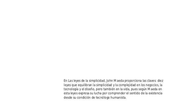 Las leyes de la Simplicidad Slide 2