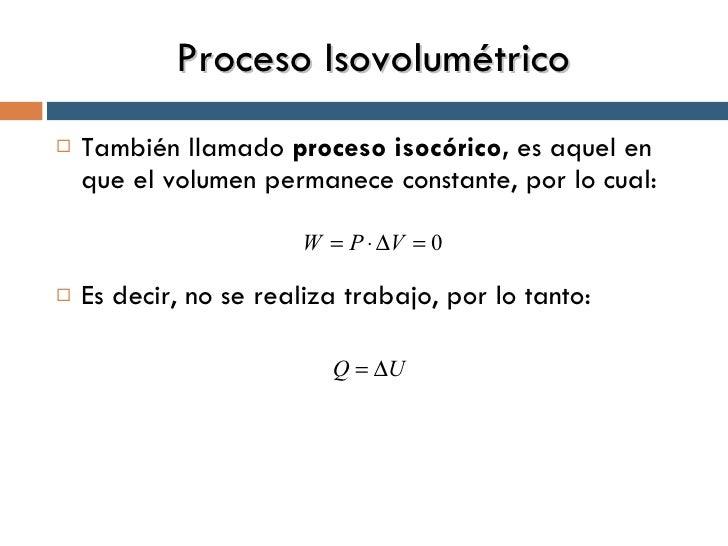 Proceso isocorico