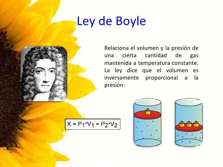Ley de boyle relaciona el volumen y la presi 243 n de