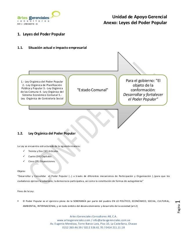 Unidad de Apoyo GerencialRIF J – 29854078 – 8                                                         Anexo: Leyes del Pod...