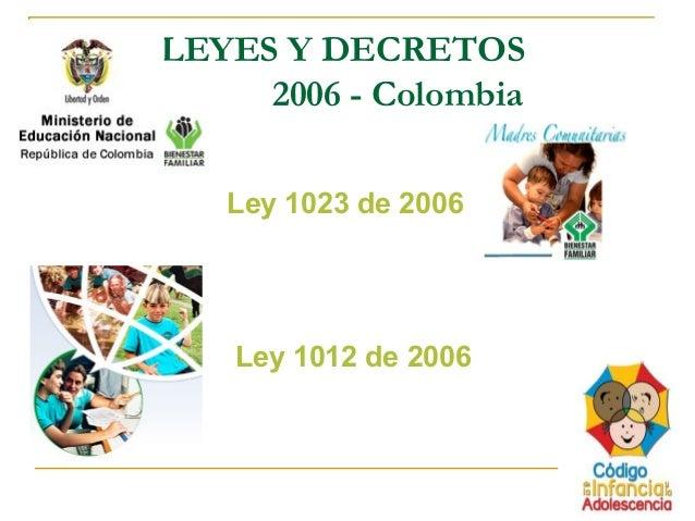 LEY 1023 DE 2006 PDF