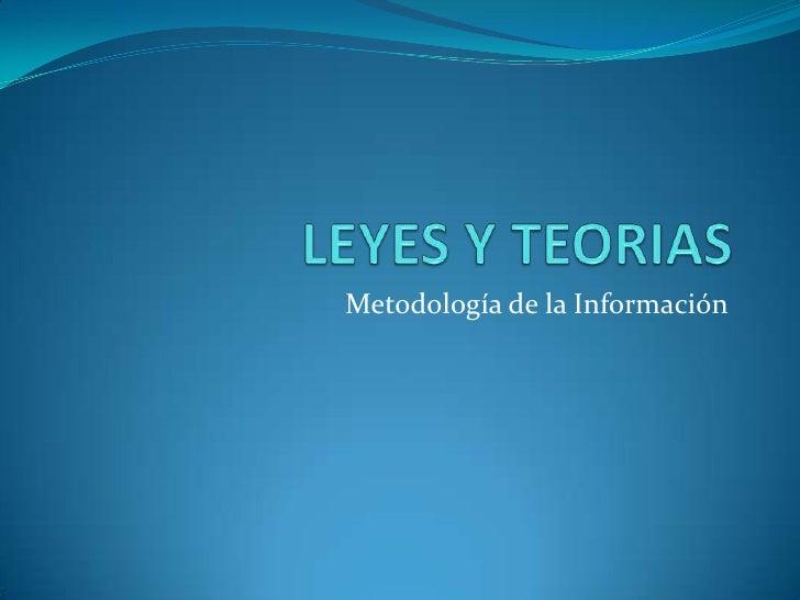Metodología de la Información