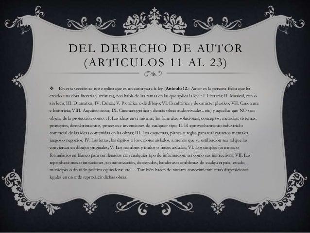 Ley Federal De Derechos De Autor En Mexico