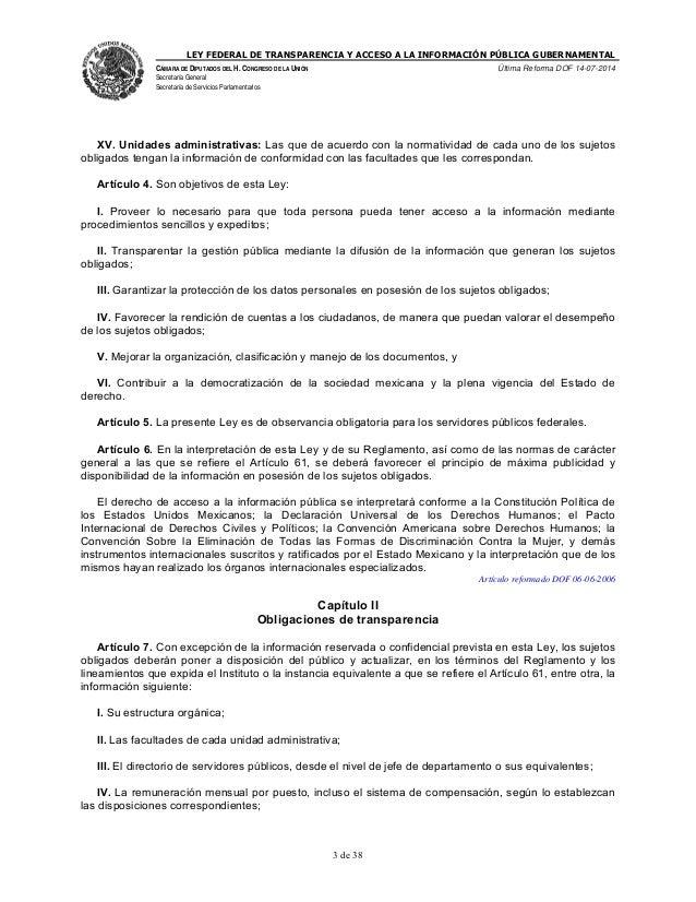 Ley federal de transparencia y acceso a la informaci n for Oficina de transparencia y acceso ala informacion