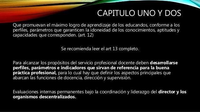 Ley general del servicio profesional docente Slide 2