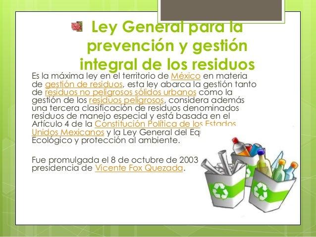 Ley general para la prevención y gestión integral Slide 2