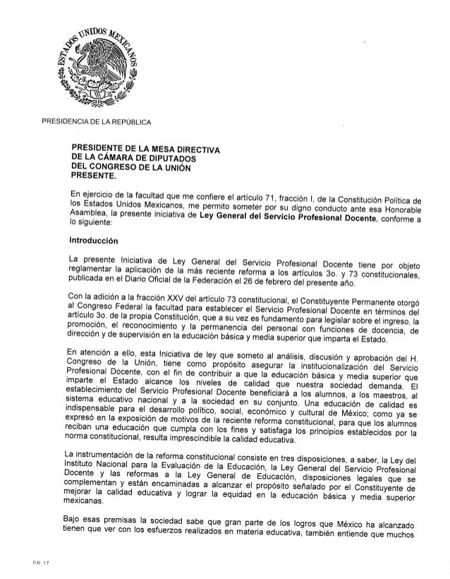 Ley general servicio profesional docente agosto 2013