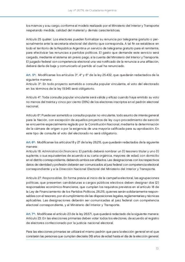 Ley de ciudadan a argentina voto 16 a os for Ministerio del interior argentina