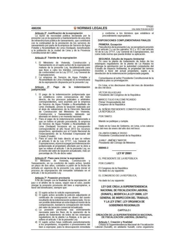 Ley nº 29981   ley que crea la sunafil