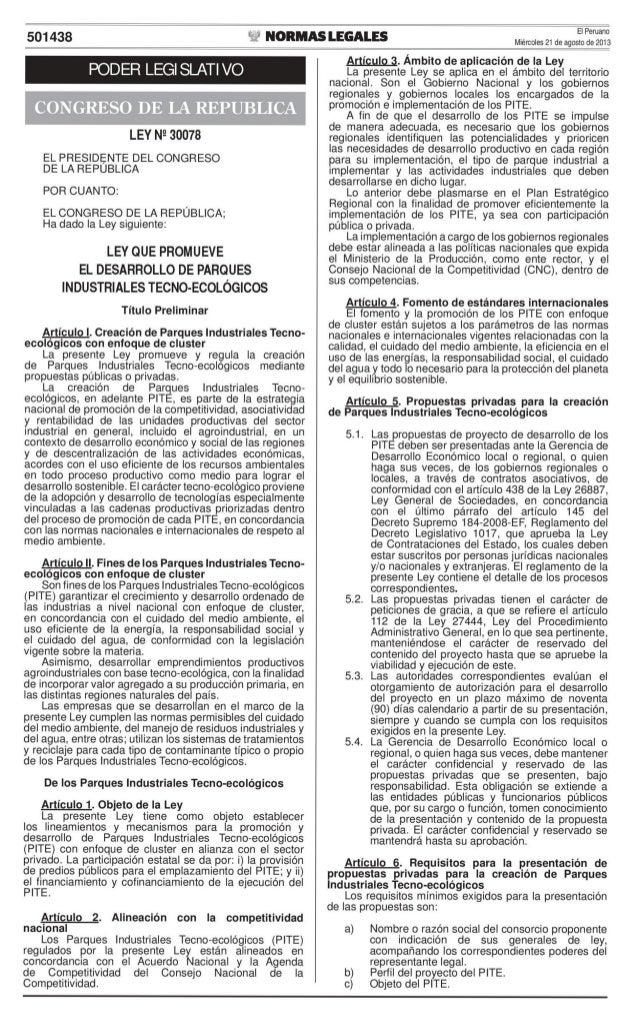 Ley N° 30078