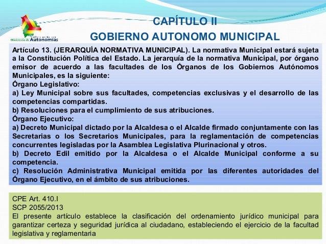 Ley N° 482 de Gobiernos Autónomos Municipales del 9 de