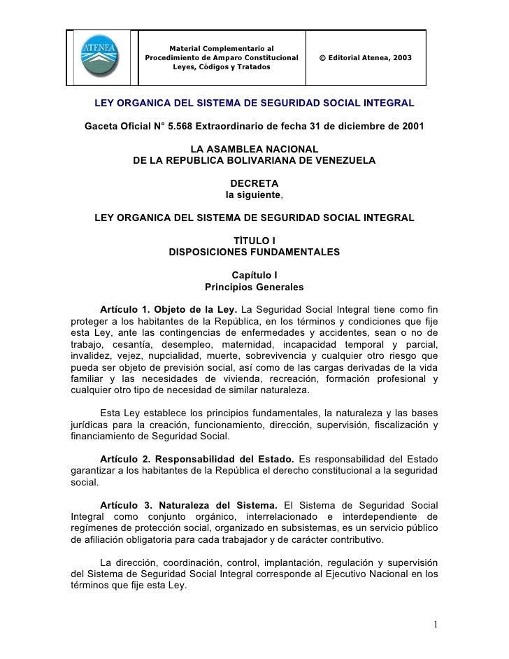 Material Complementario al                Procedimiento de Amparo Constitucional   © Editorial Atenea, 2003               ...