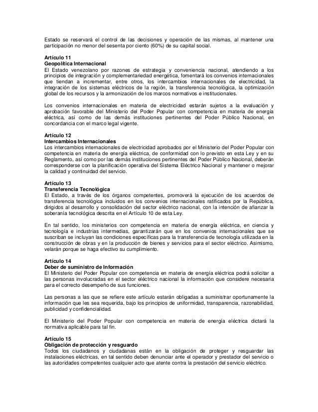 Ley Orgánica del Sistema y Servicio Eléctrico (14 12-2010) Slide 3