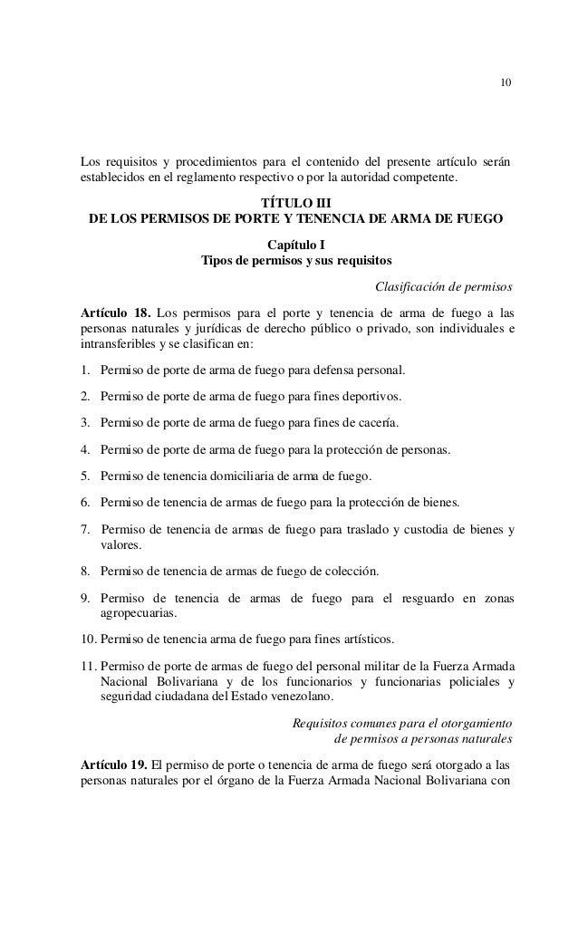 Ley para el desarme y control de armas y municiones for Porte y tenencia de armas de fuego en republica dominicana
