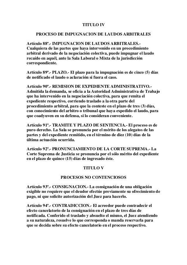 Ley procesal del trabajo