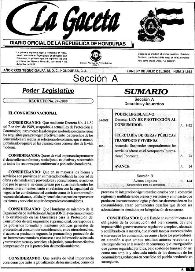 DIARIO OFICIAL DE LA REPUBLlCA DE HONDURASLaprimeraimprentallegóaHondurasen1829 A.siendoinstaladaenTegucigalpa,enelcuartel...