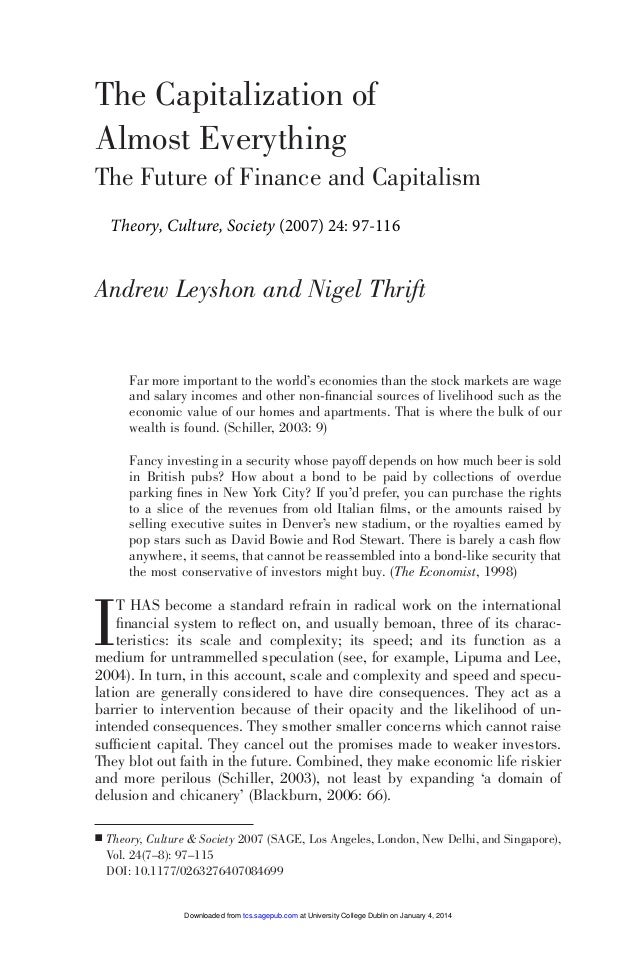 097-115 084699 Leyshon (D)  6/2/08  12:25  Page 97  The Capitalization of Almost Everything The Future of Finance and Capi...