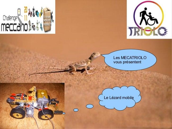 Les MECATRIOLO     vous présententLe Lézard mobile