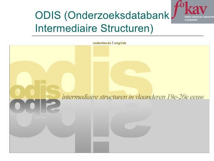 ODIS (Onderzoeksdatabank Intermediaire Structuren)