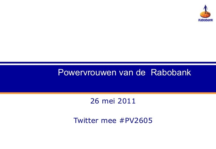 26 mei 2011 Twitter mee #PV2605