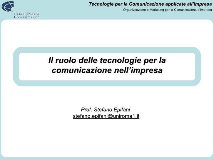 Il ruolo delle tecnologie per la comunicazione nell'impresa