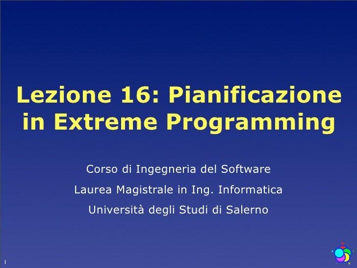Lezione 2 pianificazione in extreme programming for Software di pianificazione del garage