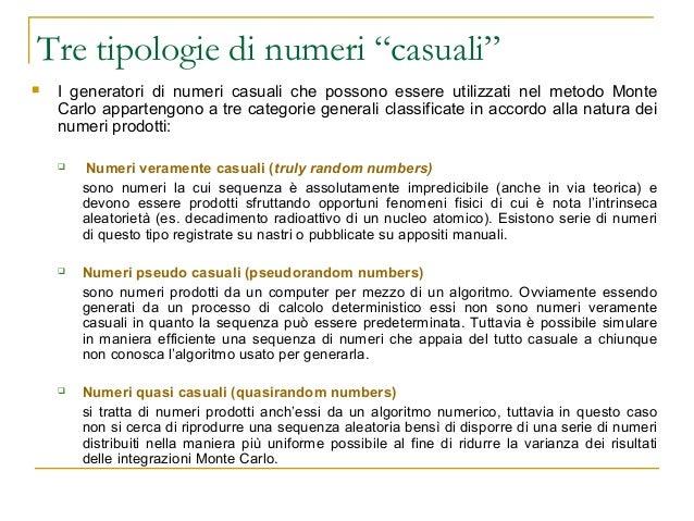 Lezione 3 Metodo Monte Carlo