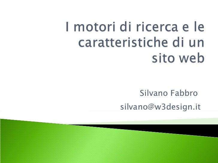 Silvano Fabbro  [email_address]