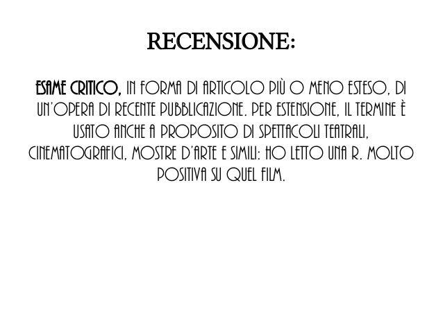 6fdb88b1ae SCRIVERE UNA RECENSIONE GASTRONOMICA; 2. RECENSIONE: ...