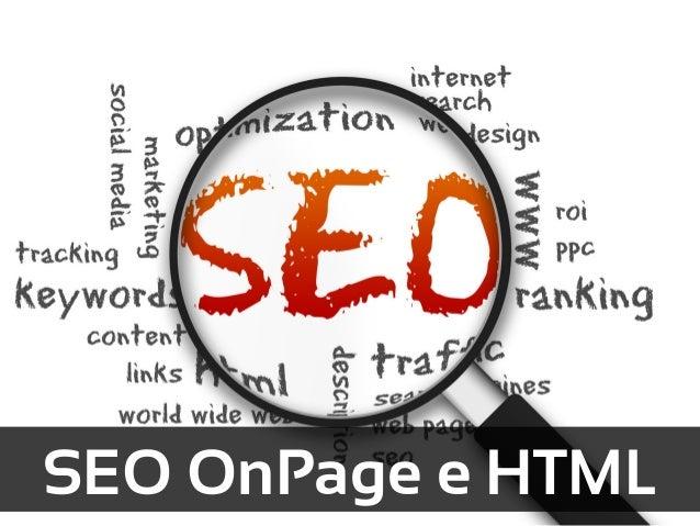 SEO OnPage e HTML