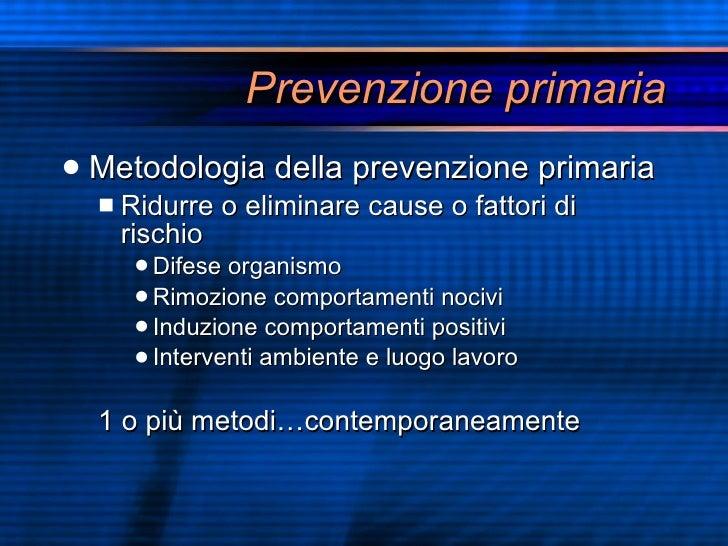 Lezione prevenzione