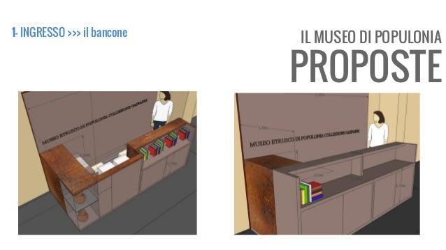 IL MUSEO DI POPULONIA PROPOSTE 1- INGRESSO >>> il bancone