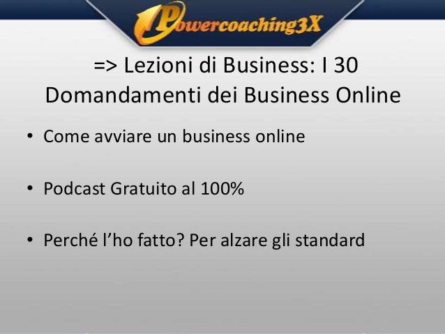 => Lezioni di Business: I 30 Domandamenti dei Business Online • Come avviare un business online • Podcast Gratuito al 100%...