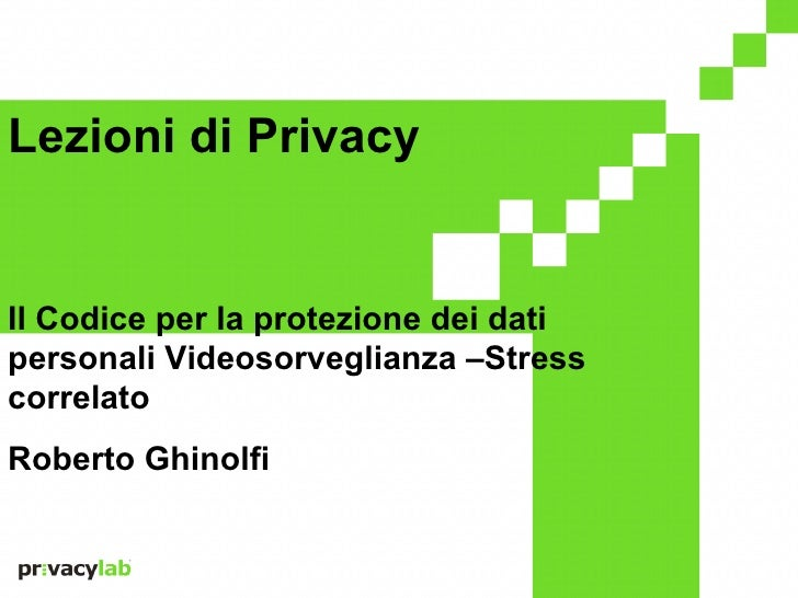 Click to edit Master title styleLezioni di Privacy    • Click to edit Master text styles    • Second level    • Third leve...