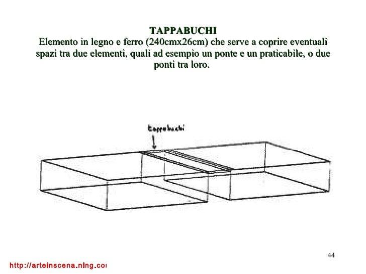 Lezioni di scenotecnica2 for Scivolo in ferro usato