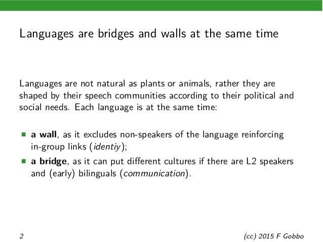 Linguae francae between communication and identity Slide 2