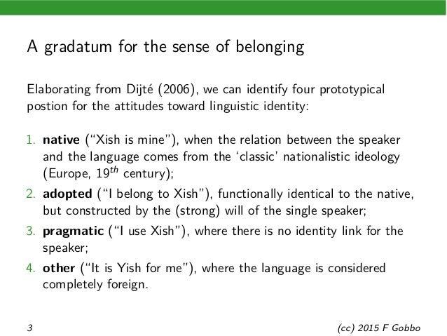Linguae francae between communication and identity Slide 3