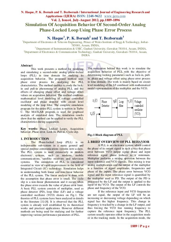 N. Haque, P. K. Boruah and T. Bezboruah / International Journal of Engineering Research and                 Applications (...