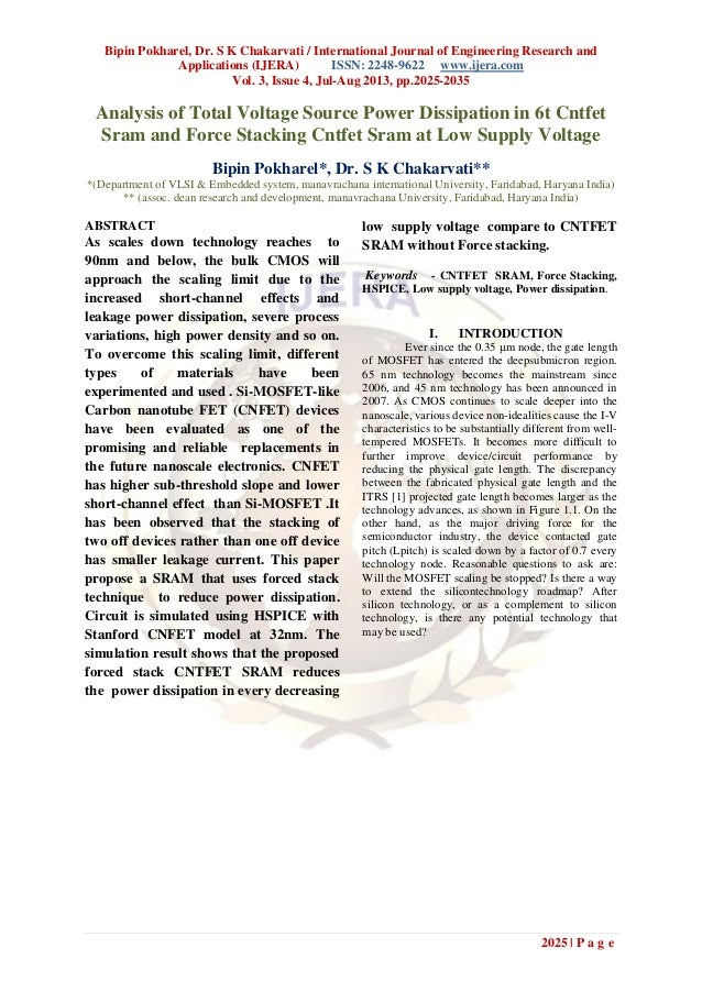 Bipin Pokharel, Dr. S K Chakarvati / International Journal of Engineering Research and Applications (IJERA) ISSN: 2248-962...