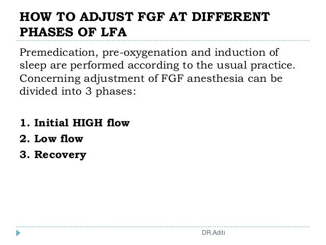 HOW TO ADJUST FGF AT DIFFERENT PHASES OF LFA Premedication, pre-oxygenation and induction of sleep are performed according...