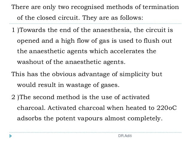 There are only two recognised methods of termination of the closed circuit. They are as follows: 1 )Towards the end of the...