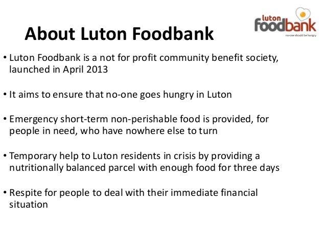 Luton Foodbank Volunteer Presentation