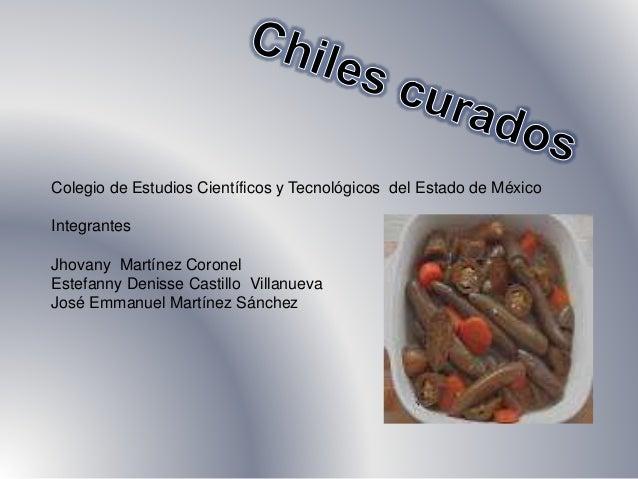 Colegio de Estudios Científicos y Tecnológicos del Estado de México  Integrantes  Jhovany Martínez Coronel  Estefanny Deni...