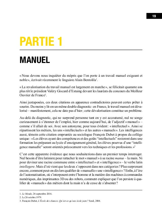 Chapitre 1. «Manuel»: un concept fourre-tout et péjoratif 23 Jetons un œil à ces critères étranges selon lesquels s'opè...