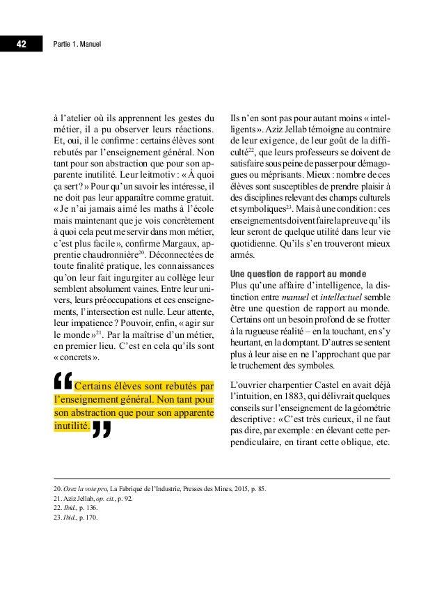 46 Partie 1. Manuel «Manuels vs intellectuels» ou «patrons vs ouvriers»? Marx détrône Platon 1976.Surl'affiche,unbeau...