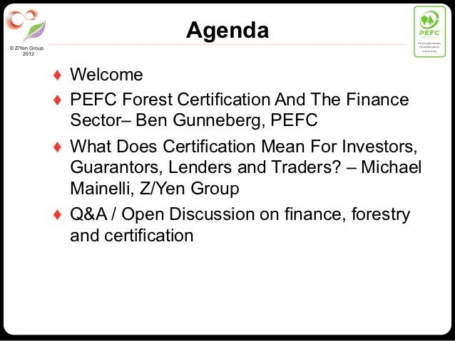 Agenda                          PEFC/01-00-01                                                             Promoting Sustai...