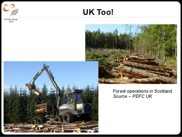 UK Too!© Z/Yen Group     2012                      Forest operations in Scotland                      Source – PEFC UK